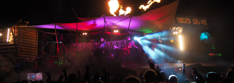Auftritt Wacken Open Air : Poledance, Strip, Ringakrobatik, Vertikaltuch, Burlesque - Lady Kitty´s Hell´s Belles